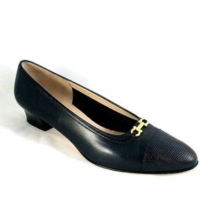 Salvatore Ferragamo Pump Classic Leather Heel 10 B